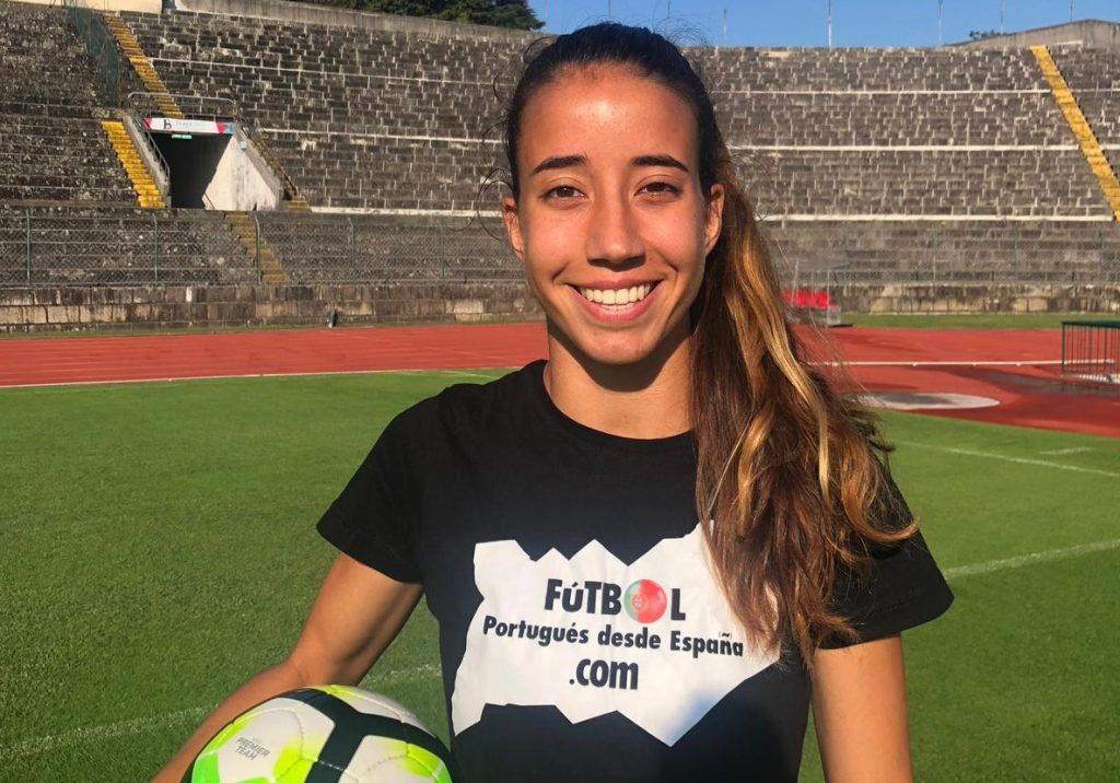 Francisca Cardoso en el Estadio 1º de Maio.